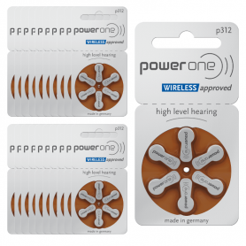 Hörgerätebatterien Power One p312 – 20er-Pack