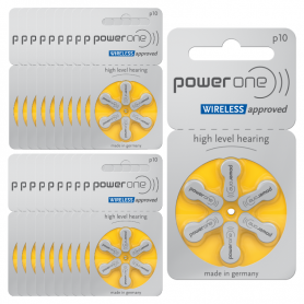 Hörgerätebatterien Power One p10 – 20er-Pack