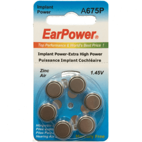 Piles implant cochleaire earpower 675